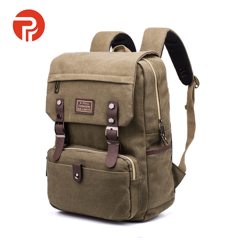 OEM good price fsahion canvas school backpack laptop canvas backpack