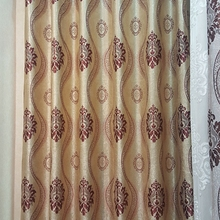 Jacquard sun block woven fabrics blackout curtain price double swag shower curtain