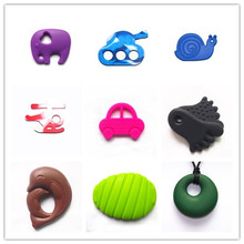 2014Chewable silicone teething toys&pendent Baby Universal Silicone Adult Teether
