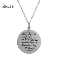 "Yiwu Meise hand stamped Jewelry""Good Friends Are Like Stars""Disc and Star Friendship Pendant Necklace good friend Jewelry"