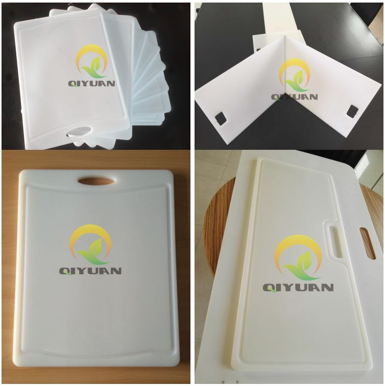 Customized polyethylene plastic UHMWPE cutting board or HDPE chopping board