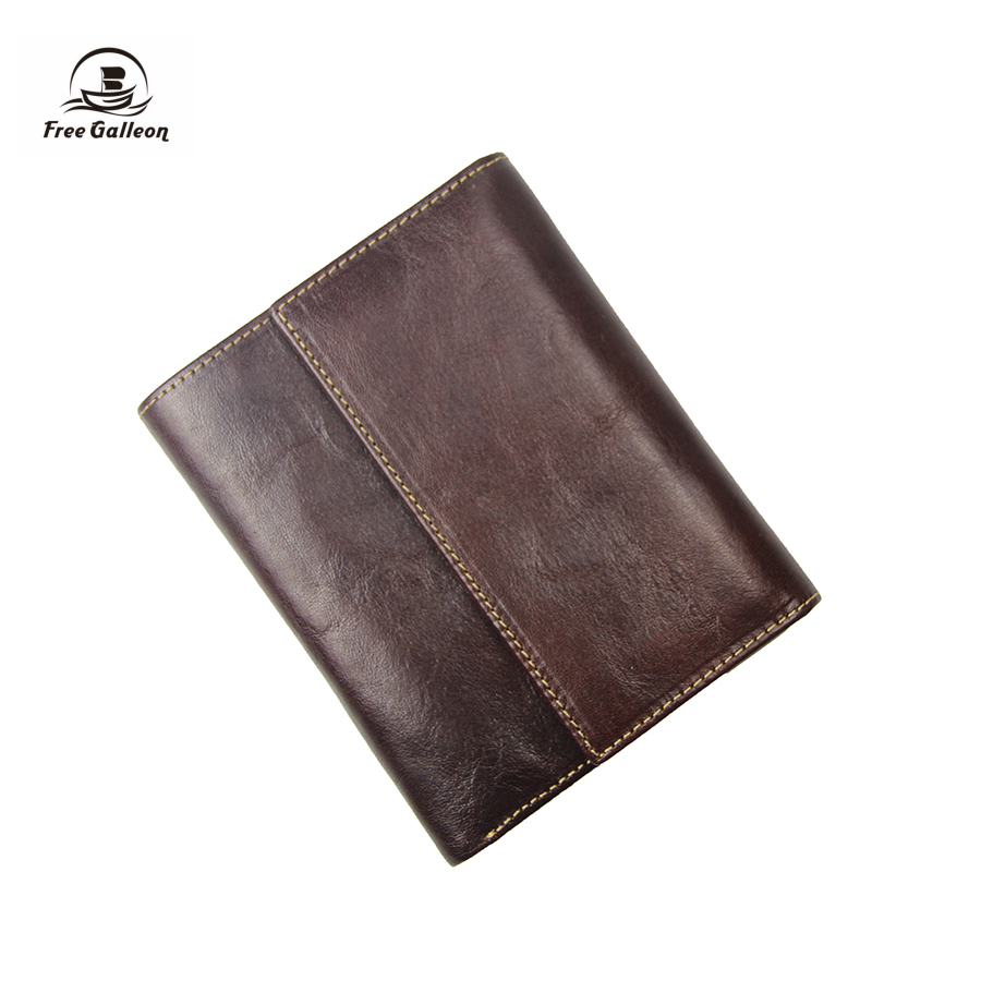 European and American Style Mens Wallet Genuine Import Leather Coin Sorter Purse