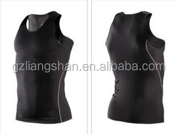 OEM Wholesale Custom Mens Dry Fit Stringer Under Shirt Tops Skin Body Armour Compression Wear Base Layer Tank Top Vest