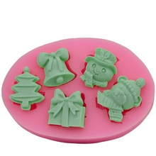 Christmas gift DIY 3d fondant silicone chocolate mold soap mold
