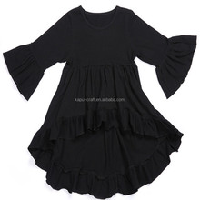 Wholesale long ruffle sleeve 100%cotton T-shirts for baby girls