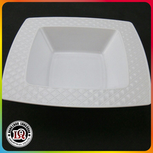 Decorative Disposable Plastic Square Plates