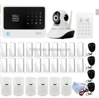DHL free shipping New GSM WIFI alarm sytem Spanish/English multiple function wireless wifi burglar gsm alarm system