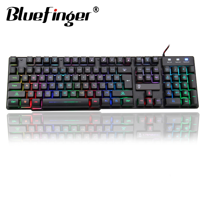 Cool Backlit Mechanical hands feeling usb Wired Gaming keyboard