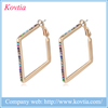 korea earring wholesale costume jewelry earrings fashion gold hoop earring with crystal
