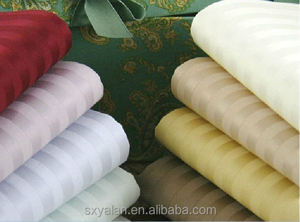 100% cotton satin stripe fabric