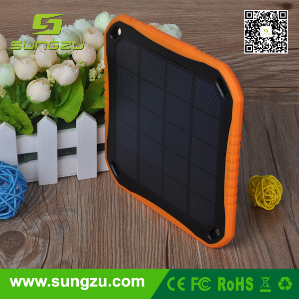 factory price 2.5W solar charger power bank 5600mah with sticker,patent solar charger power bank,mobile power supply