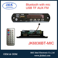 JK6836BT-MIC For car fm radio handsfree smarphone call mp3 decoder bluetooth module with mic