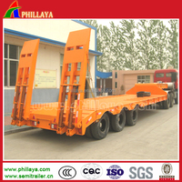 phillaya tri-axle mechinical/air suspension 40-70tons lowbed trailer/ truck semi trailer for sale in africa