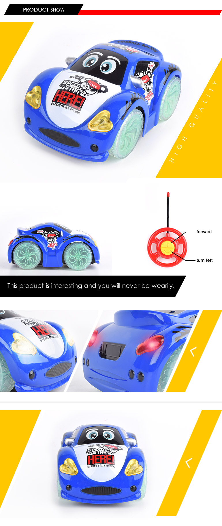 chinese import sites child light and music cartoon vehicle 27MHZ 2ch radio-controlled car for promotion
