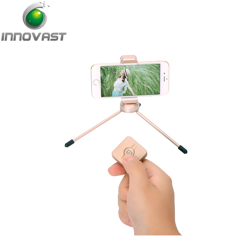 Mini bluetooth camera remote shutter button for selfie stick