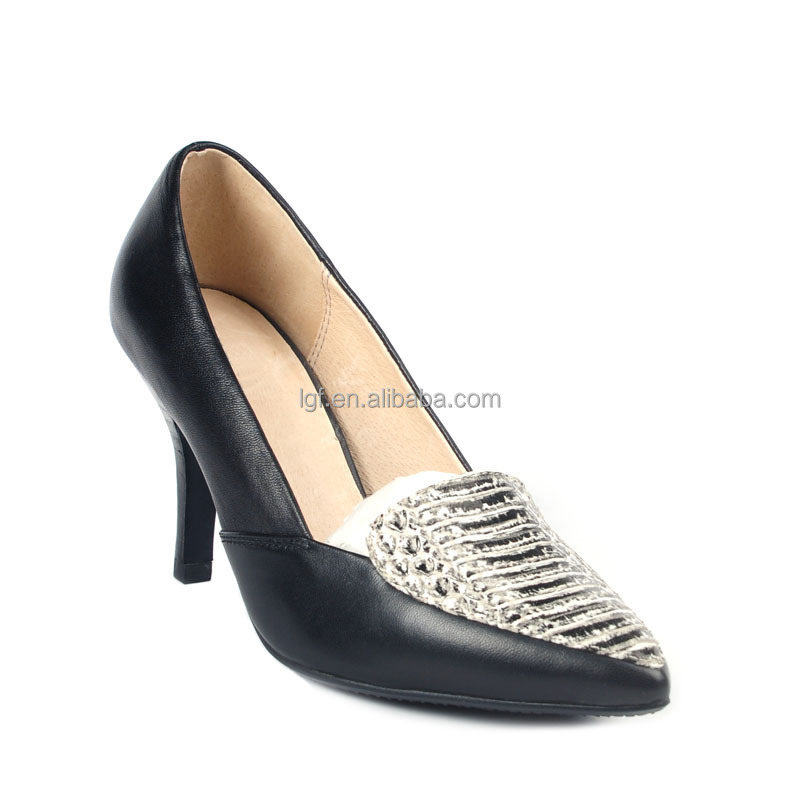 New fashion Women's Shoe Faux Skin Stiletto High Heel Multi Color Pump ladies Low Mid Heels Shoes