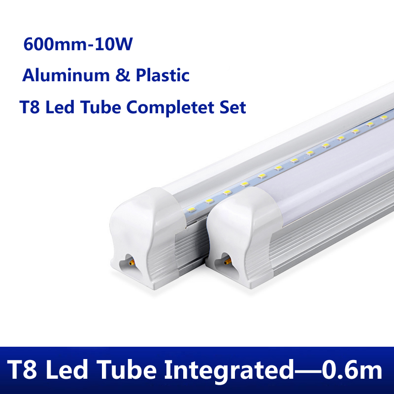PVC Plastic 10W 14W 18w Integrated LED Tube T8 Led tube 600m Light 220V 240V 120cm 60cm 30cm LED Wall Lamp Cold White