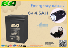 6v Voltage and Telecom Control System Emergency Light battery 4.5ah