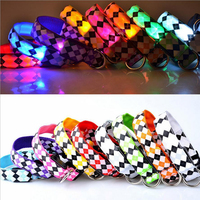 Wish hot selling dog led collar bling bling beautiful square decorated led dog collar