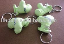 Boxing gloves mini promotional keychains