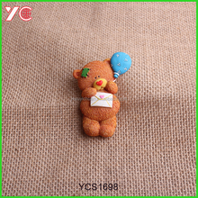 Mini Cartoon Bear Statue Resin Fridge Magnet For Kids