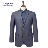 Hot Selling OEM 2016 Navy blue T/R Fabrics Men Brand Blazer, Lapel Collor Coats suits for Men, Mens Popular Latest Design Blazer