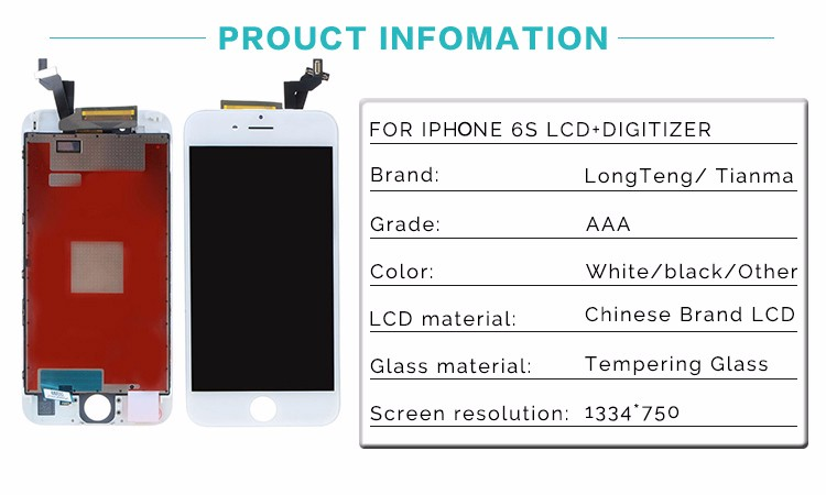 Grade AAA New Replacement Parts for iPhone 6S LCD Screen Display 4.7 inch with Touch Digitizer Assembly