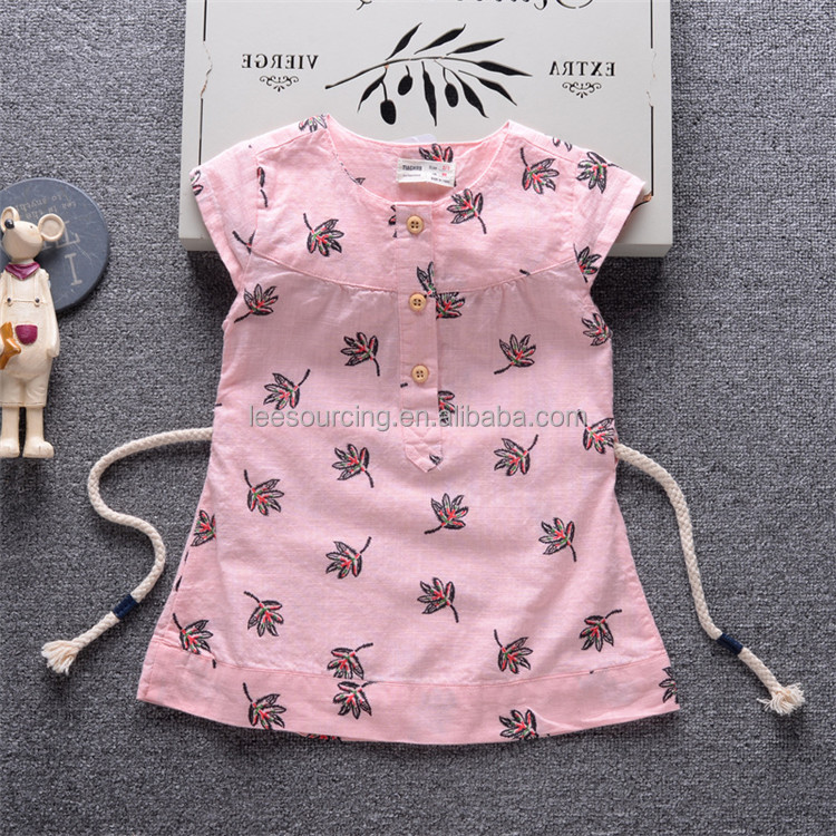 Printed Soft Cotton Baby Kids Summer A-line Dresses For 2 Year Old girl Dress