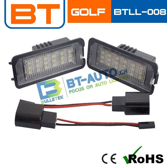 LONG LIFE 12V Car license plate light for GOLF 4/5