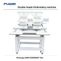 Fuwei 2 heads flat computer embroidery machine for socks machine price