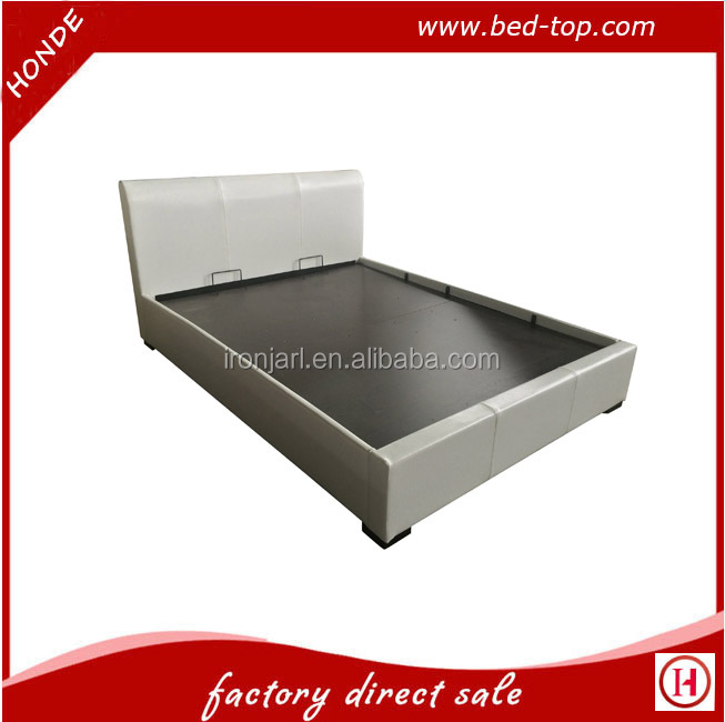 New Model Faux Leather PU Gas Lift Storage Bed