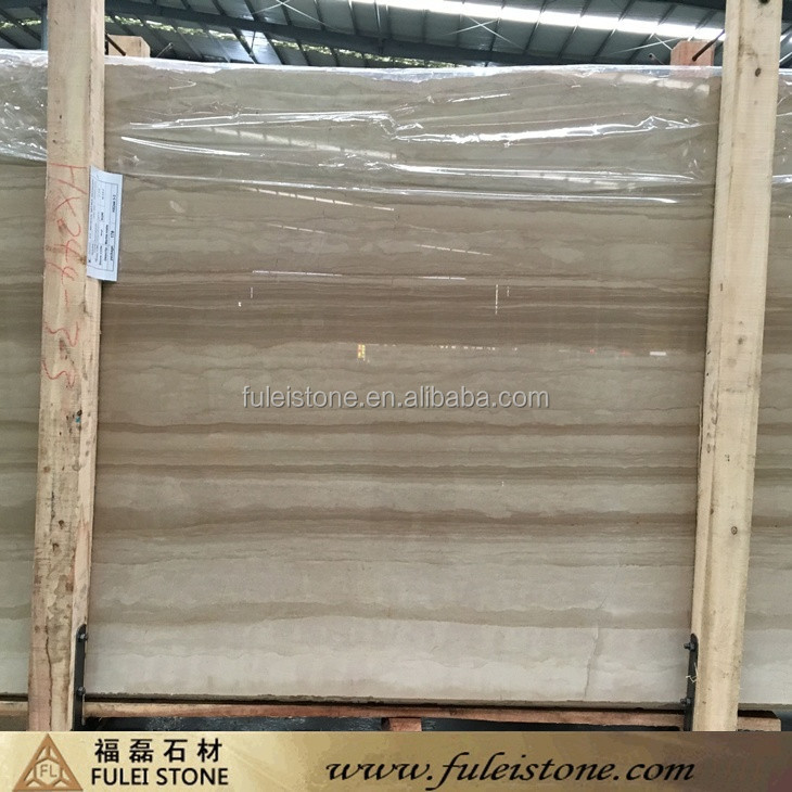 Natural Polished Straight Italian Beige Wood Marble