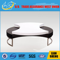 Unique Design Irregular Shape White High Gloss Coffee Table