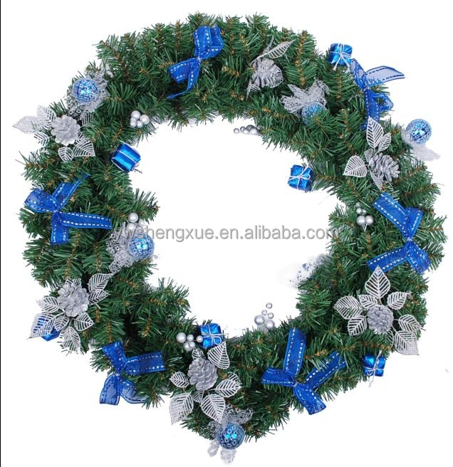 PVC Artifical christmas garland pine cone christmas wreath