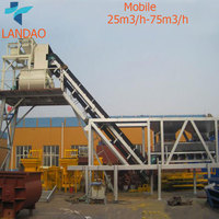 2017 Hot Sale Mobile Wet Ready Mixed 25m3/h Premixed Concrete Batching Plant