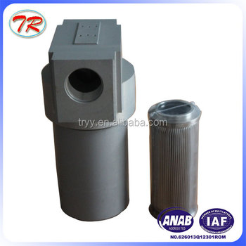 Medium pressure aluminum hydraulic oil filter housing