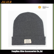 High Quality Crochet Winter Custom Beanie With Woven Label for Men and Women
