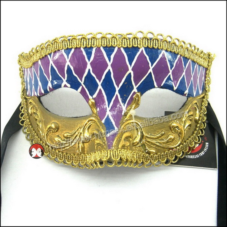 Gold music roman mask purple gold masquerade mask