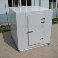 Pharmaceutical vaccine cold container storage for condensing unit