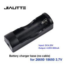 Jialitte C016 26650 18650 lithium battery multi-function charger 3.7 v flashlight universal portable lithium battery charger