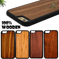 high quality 100% solid custom wooden cell phone case for iphone 6,for iphone 6 wood case