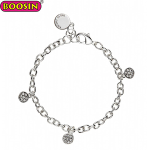 Handmade logo tag charm bracelet from boosin jewelry making