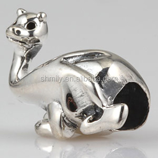 Alpaca Animal Big Hole Vintage Tone 100% Authentic 925 Sterling Silver European Charm Beads For DIY Charm Jewelry SAPB3165