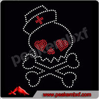 Beautiful skull rhinestone trimmings for dresses