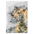 Custom Canvas Print Watercolor Tiger Painting Canvas Printing Artistic Canvas Wall Art Cool Bedroom Decoration