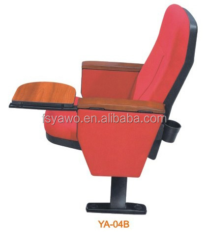 Folding auditorium theater cinema chair with table furniture school