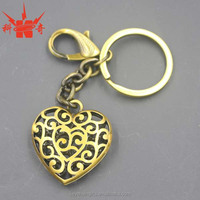 Promotion beautiful custom metal heart shape key chain