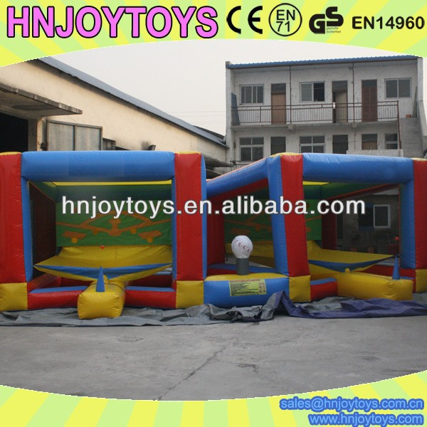 custom inflatable baseball batting cage