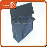 cheap unique gift design paper bag with ribbon