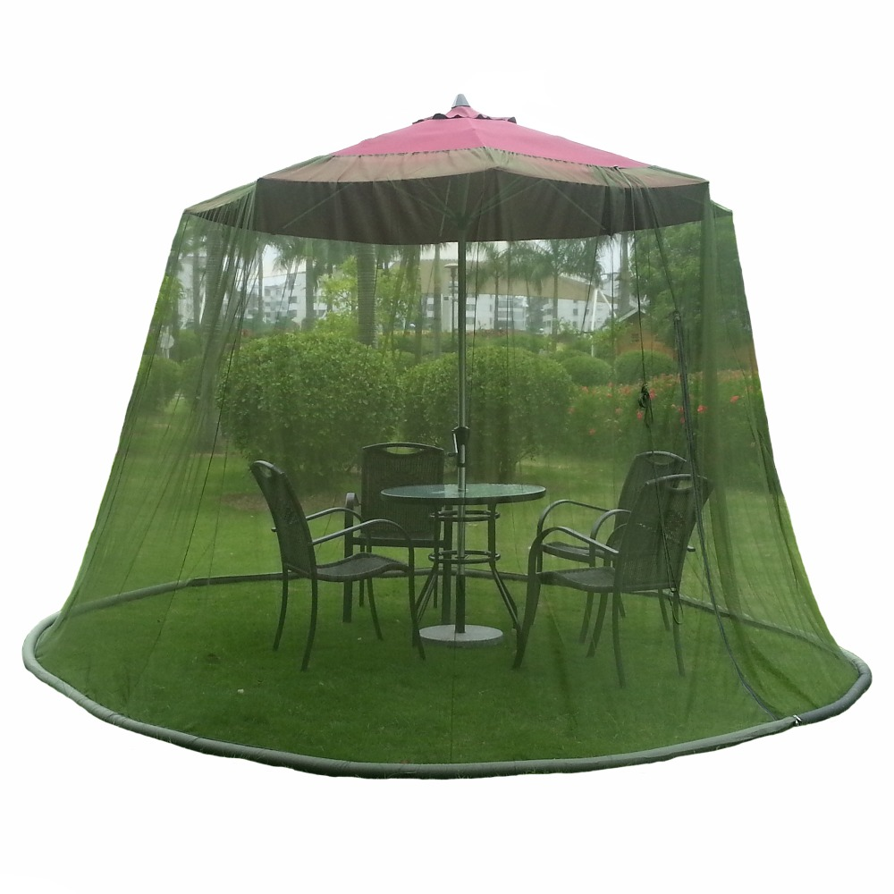 Garden Black Outdoor 9 Ft Table Screen Patio Umbrella Bug Mosquito